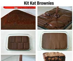 brownies, diy, and kit kat image