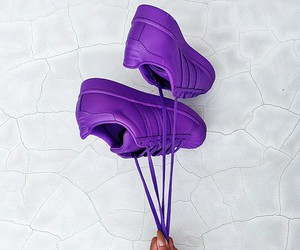 purple, adidas, and shoes image