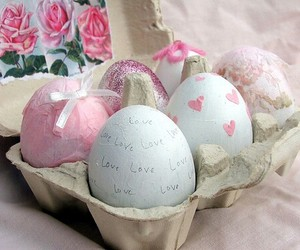 eggs, easter, and pink image
