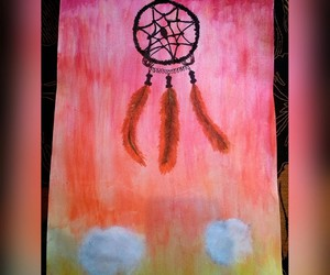 dream catcher, painting, and acvarel image