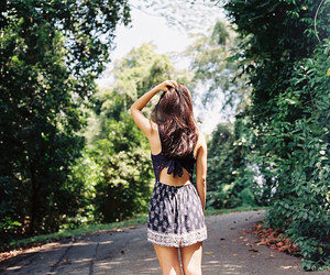 girl, fashion, and nature image