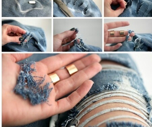 jeans, diy, and cool image