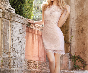 dress and bridesmaid image