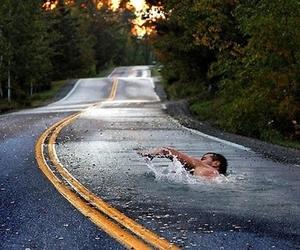 road, swimming, and swim image