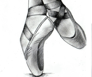 ballet shoes and drawing image