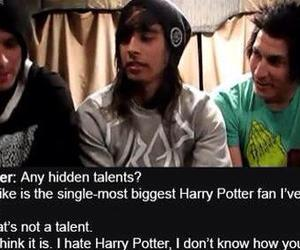 harry potter, mike, and pierce the veil image