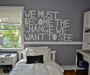 bedroom, quote, and room image