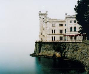 castle, sea, and architecture image