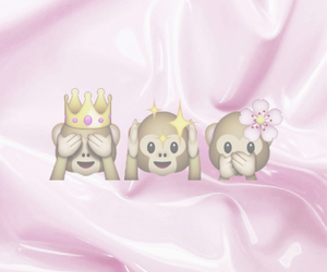 crown, flower, and monkey image