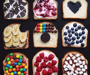 food, fruit, and bread image