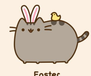 easter and pusheen image