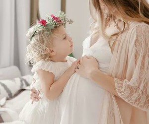 baby, love, and mother image