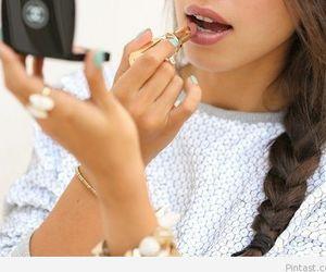 girl, chanel, and lipstick image