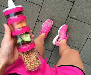 fitness, pink, and nike image
