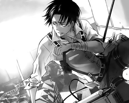 anime, levi, and shingeki no kyojin image