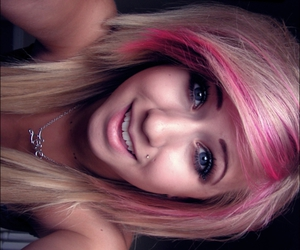 beautiful, photography, and pink hair image