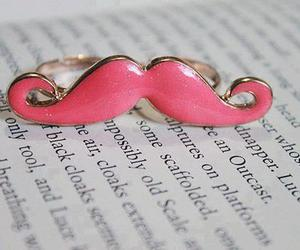 moustache and pink image