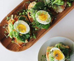 crostini, egg, and food image