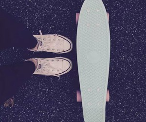 converse, blue, and pennyboard image