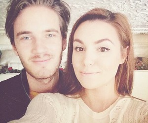 pewdiepie, cute, and couple image