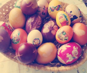 bunny, easter, and eggs image