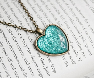 heart, book, and blue image