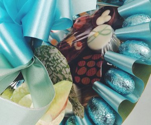 blue, bonbons, and bunny image