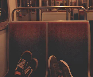 vans, couple, and shoes image