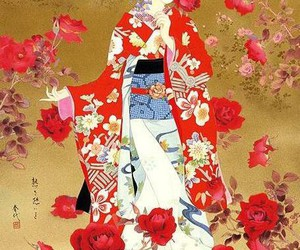 art, japanese, and painting image