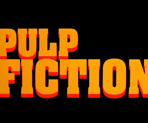 pulp fiction, black, and orange image