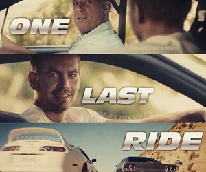 paul walker, Vin Diesel, and one last ride image