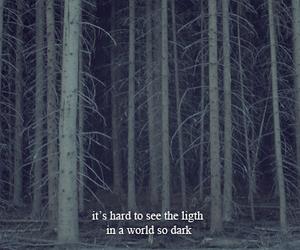 dark, light, and quote image