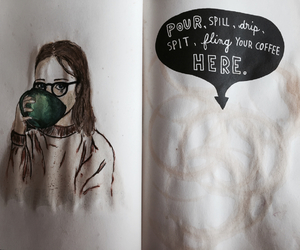 coffee, drawing, and girl image