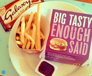 burger, chocolate, and food image