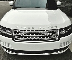 car, range rover, and white image