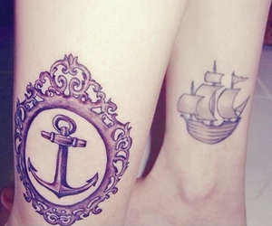 tattoo, anchor, and boat image