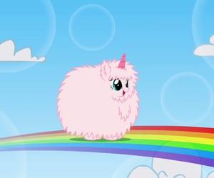 unicorn, rainbow, and pink image