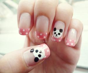 nails, panda, and pink image