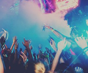 party, fun, and concert image