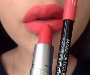 lips, mac, and lipstick image