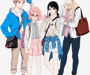 kyoukai no kanata, anime, and manga image