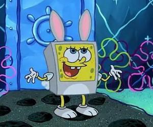 cartoon, rabbit, and spongebob image