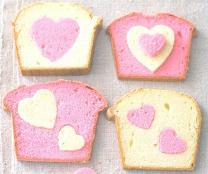 bread, food, and heart image