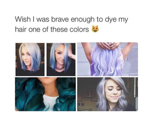 hair, blue, and brave image