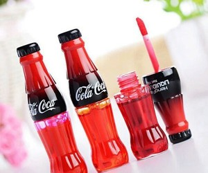 coca cola, lipstick, and lips image