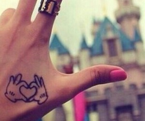 tattoo, disney, and heart image