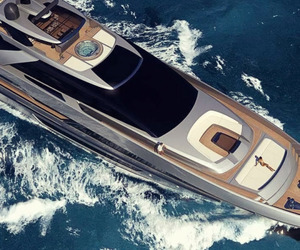 boat, luxury, and ocean image