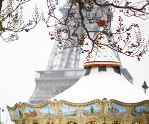 paris, carousel, and winter image