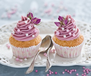 muffins, yummy, and pink image