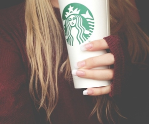 starbucks, coffee, and hair image